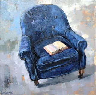 Una Sealy Painting Blue Armchair